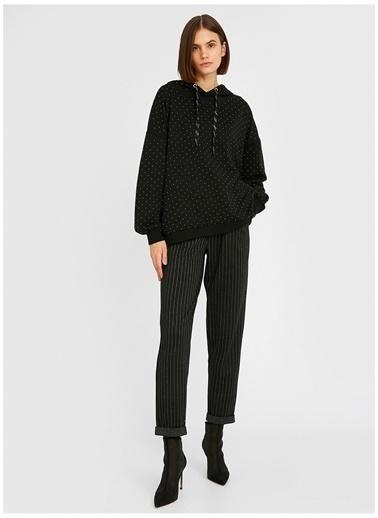 Koton Koton Kapüşonlu Uzun Kollu Sweatshirt Siyah